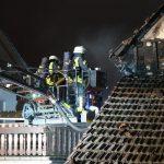 Scheunenbrand am Silvesterabend in Annerod