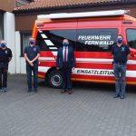 120 Mund-Nasenschutz-Masken für Einsatzabteilung der Feuerwehr Fernwald gespendet